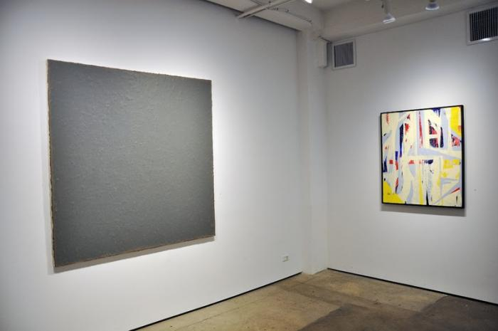 Installation view: (Karen Baumeister and Dale McNeil) Eight Painters at Kathryn Markel Fine Arts, New York