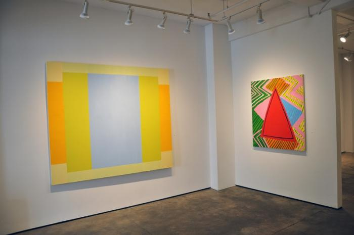 Installation view: (Matthew Neil Gehring, Brooke Moyse) Eight Painters at Kathryn Markel Fine Arts, New York