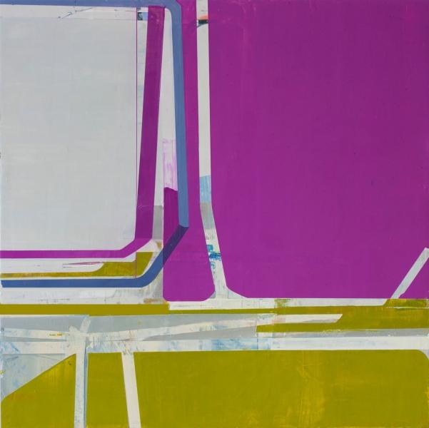 Suzanne Kammin, Many Happy Returns, 2012-13, oil on panel, 36 x 36 inches (court