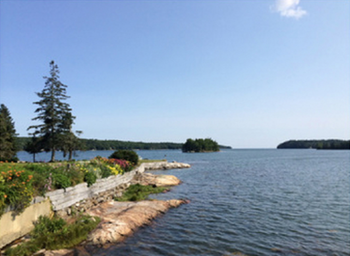 Seal Point, South Bristol, Maine, with Peabow Island (courtesy of Alexandre Gall