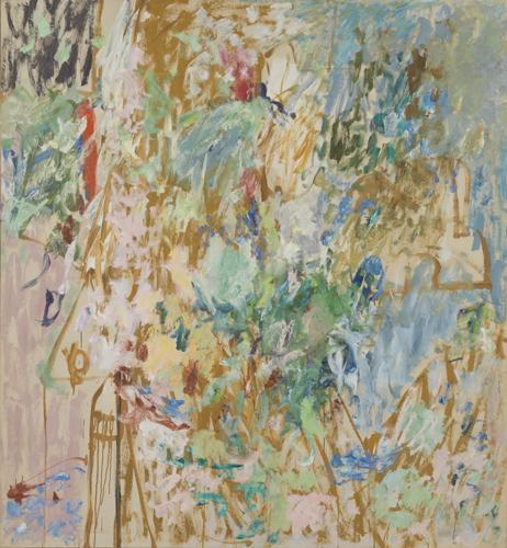 Pat Passlof, Lookout, 1959, oil on linen, 69 x 69 inches (courtesy of Elizabeth