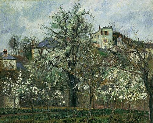 Camille Pissarro, Trees in Flower, Spring, Pontoise, 1877 (Museé d'Orsay, Paris)