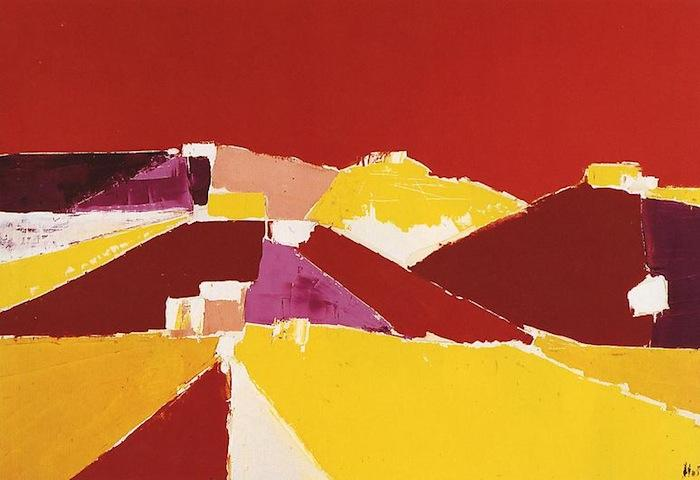Nicolas de Staël, Agrigente, 1953, oil on canvas, 35 by 51 1/8 inches (courtesy