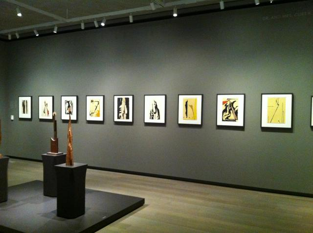 Installation View, Clyfford Still, works on paper from 1943, © Clyfford Still Museum