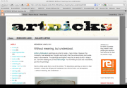Artnicks art blog