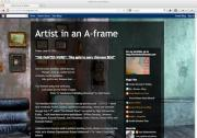 Artist in an A-frame blog
