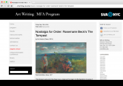 SVA - Art Writing Blog