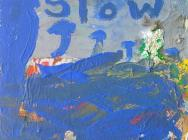 (detail) Peter Acheson, Slow Rain, 2012, acrylic with foil on canvas, 24 x 18 in