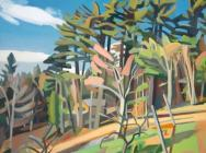 Martha Armstrong, New Providence Farm, oil on linen, 54 x 64 inches (courtesy of