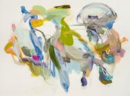 Jan Baltzell, 2015-12, 2015, oil on Mylar, 37 x 47 inches (courtesy of Schmidt D