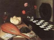 Lubin Baugin, Still-life with Chessboard (The Five Senses) 1630 (Musée du Louvre