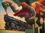 (detail) Instruments of Powe, Thomas Hart Benton, America Today Mural, 1930–31