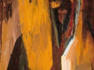 (detail) David Bomberg, Hear O'Israel, 1955, oil on wood, 35 1/2 x 27 1/2 inches