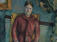 (detail) Paul Cézanne, Madame Cézanne in a Red Dress, 1888–90, oil on canvas, 45
