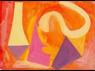 Louisa Chambers, Balance I, 2013, acrylic on card, 16 x 22 cm (courtesy of the a