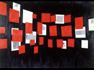 David Diao, Glissement, 1984, acrylic on canvas, 178 x 254 cm (courtesy of the a