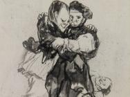 "(detail) Goya, ""Visiones,"" Album D, c.1819-23 (Courtauld Gallery)"