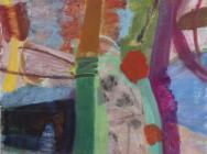 (detail) Julian Hatton, Warbler, 2014-15, oil on canvas, 60 x 60 inches (courtes