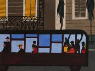Jacob Lawrence. Bus, 1941 (© 2015 The Jacob and Gwendolyn Knight Lawrence Founda
