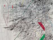 (detail) Julie Mehretu, Mogamma, A Painting in Four Parts: Part 1 (High Museum o