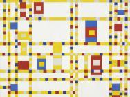 (detail) Piet Mondrian Broadway Boogie Woogie 1942-43, oil on canvas, 50 x 50 in