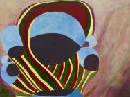 Thomas Nozkowski, Untitled (9-42), 2014, oil on linen on panel, 22 x 28 inches (