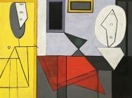 (detail) Pablo Picasso, L'Atelier (The Studio), 1927–28, oil on canvas, 59 × 91