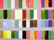 (detail) Debra Ramsay, A Year of Color, Adjusted for Daylength, 40 x 60 inches,