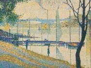 Bridget Riley, Copy after Seurat's Bridge at Courbevoie, 1959, acrylic on linen