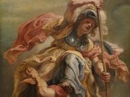 (detail) Peter Paul Rubens, Prudence (Minerva) Overthrowing Ignorance (or Sediti