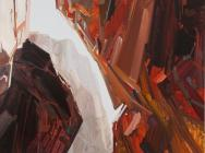 Claire Sherman, Crevice II, 2012, 5 1/2 x 7 feet, oil on canvas (courtesy of the