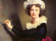 (detail) Elisabeth Louise Vigée Le Brun, Self-portrait, 1790, oil on canvas, 39-