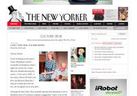 The New Yorker Culture Desk blog
