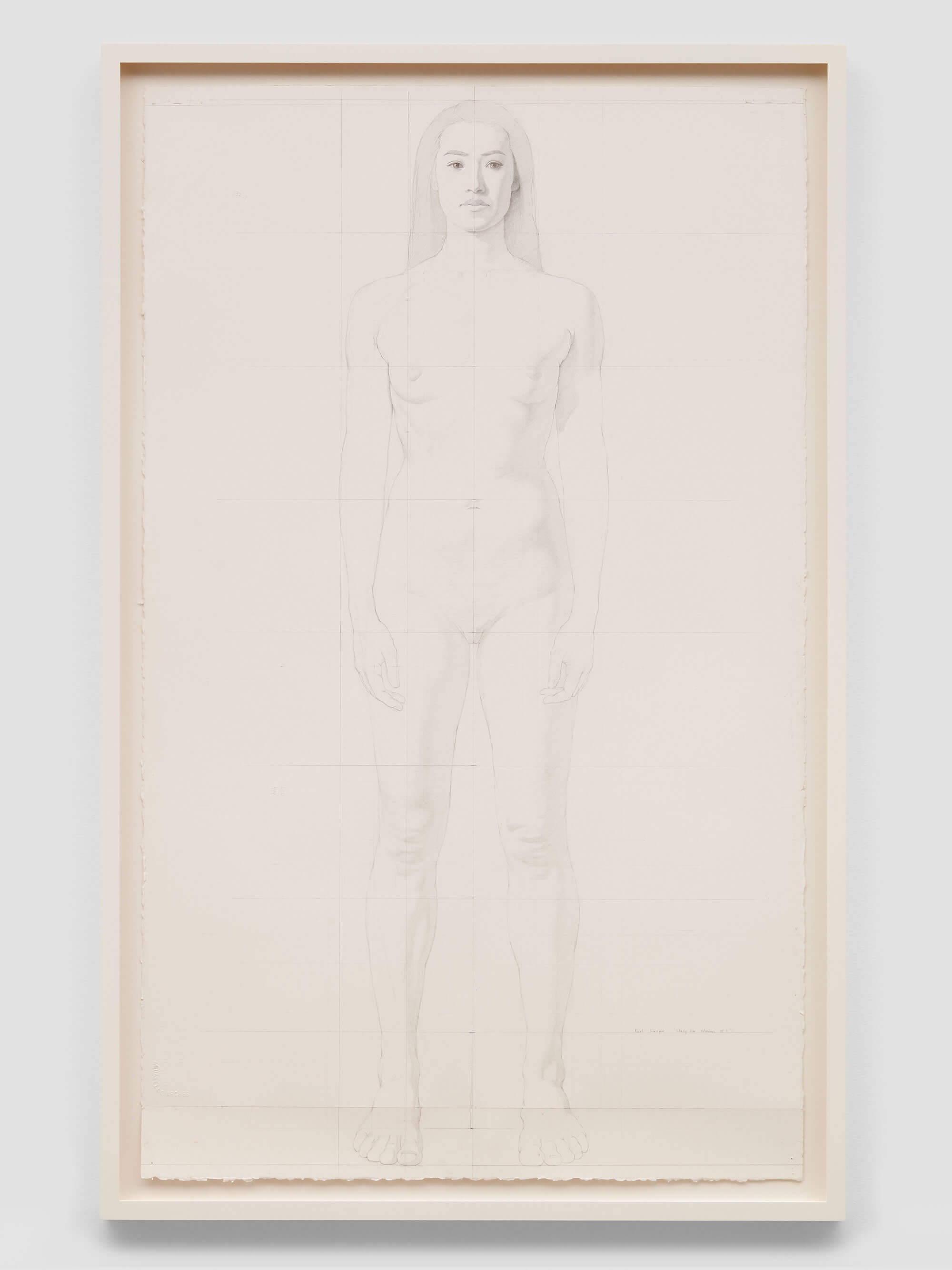 Kurt Kauper, Study for Woman 3, 2017, graphite on paper