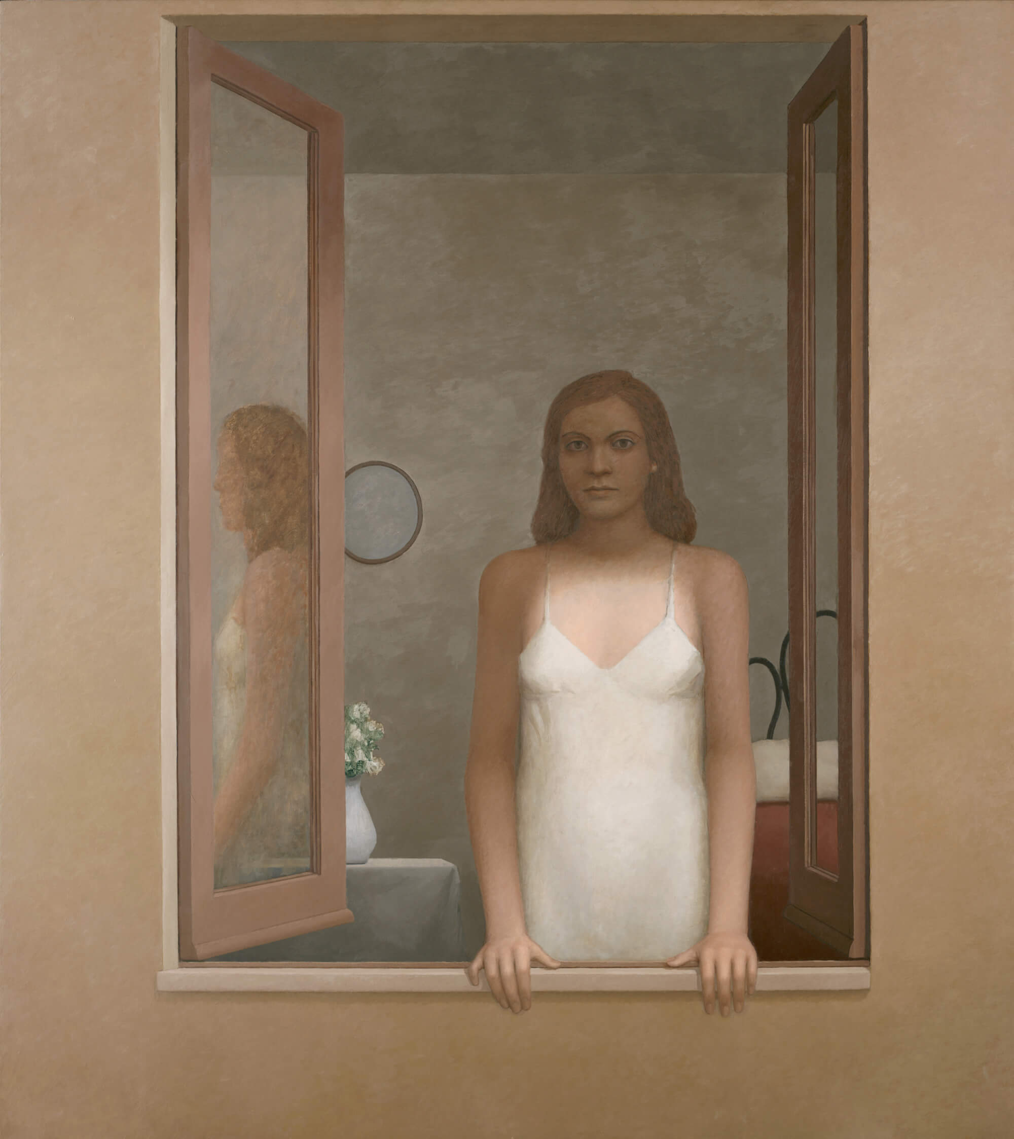 William Bailey, L'Attesa, 2006, oil on linen, 75 x 67 inches (courtesy of the artist and Betty Cuningham Gallery)