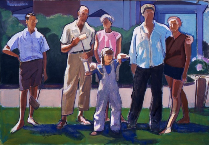 Leland Bell, Croquet Party, 1965, oil on canvas, 42 x 60 inches (Collection of the Center for Figurative Painting, New York)