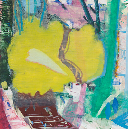 Julian Hatton, Tart, 2016-17, oil and mixed media on panel, 10 x 10 inches (courtesy of Elizabeth Harris Gallery)