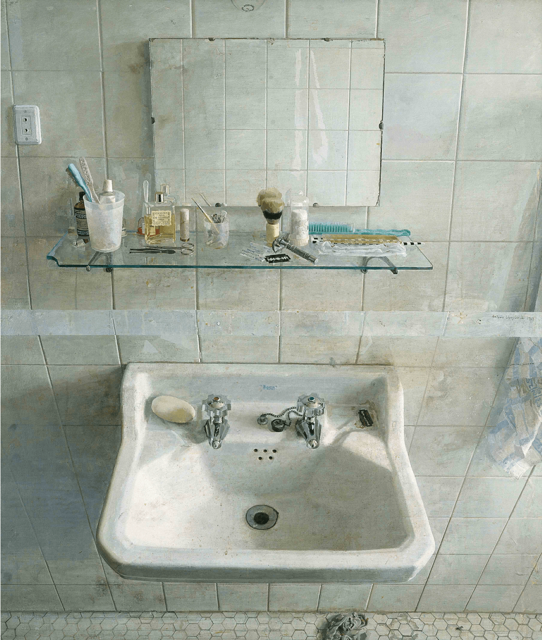 Antonio López García, Sink and Mirror, oil on wood, 1967 (Museum of Fine Arts, Boston)