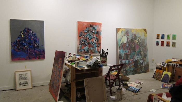 Trent Miller, Studio View, 2012 (courtesy of the artist)