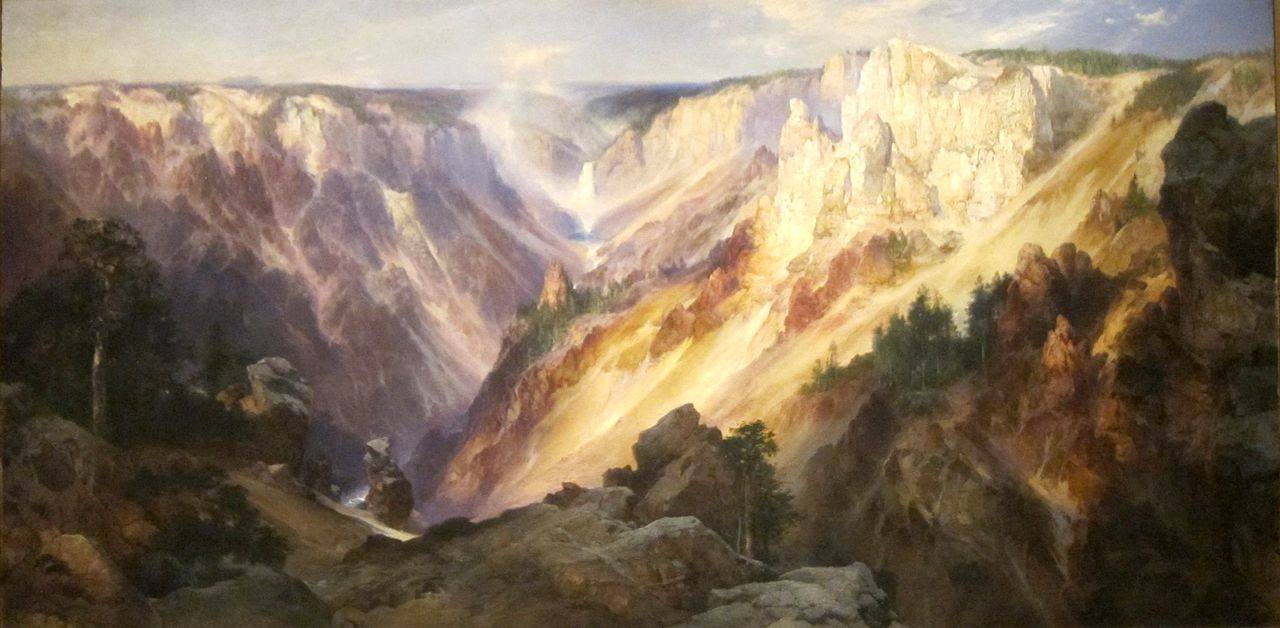 Thomas Moran, The Grand Canyon of the Yellowstone, Wyoming, 1904 (Honolulu Museum of Art)