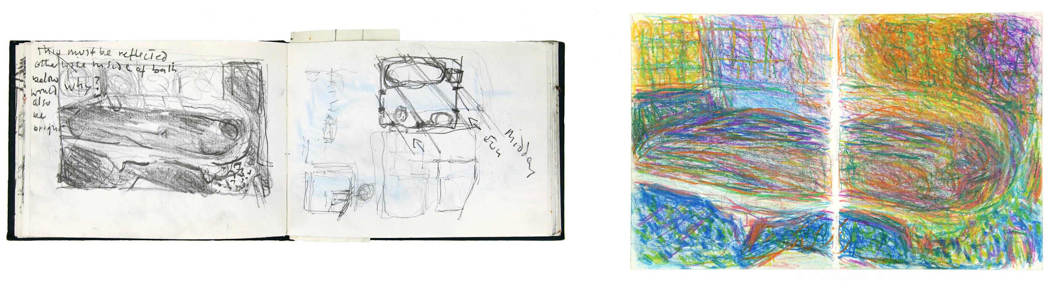 Sargy Mann, Bonnard Studies, Sketchbook, (Sargy Mann estate)