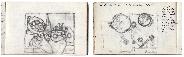 Sargy Mann, Sketchbook, Cézanne Studies (Sargy Mann estate)