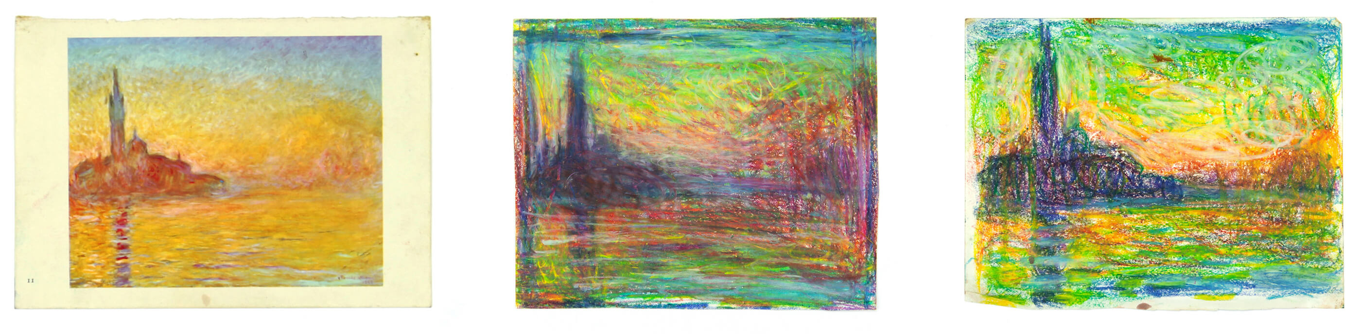 Sargy Mann, Monet Studies, Sketchbook, (Sargy Mann estate)