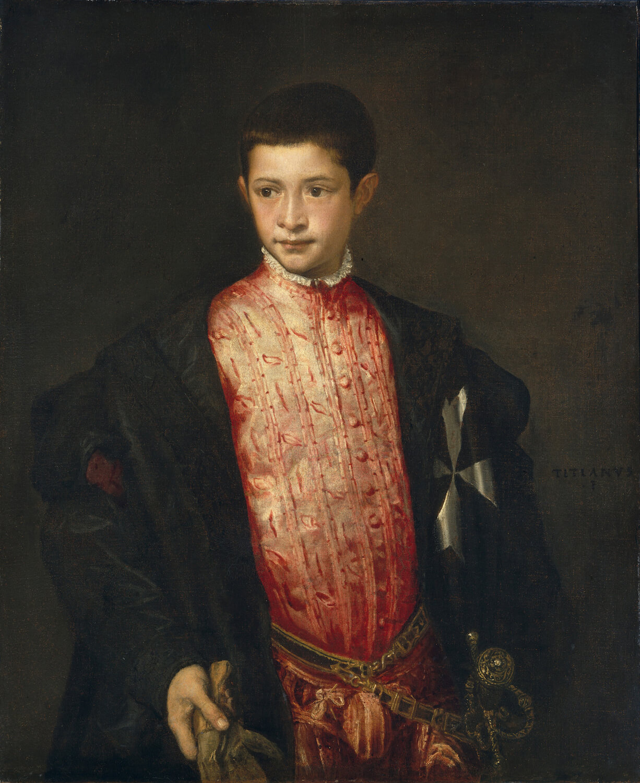 Titian, Portrait of Ranuccio Farnese, 1542 (National Gallery of Art, Washington DC)
