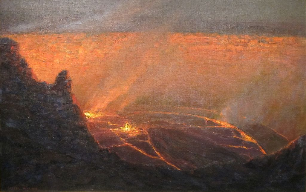 Lionel Walden (1861-1933), Volcano, c. 1915 (Honolulu Museum of Art,)